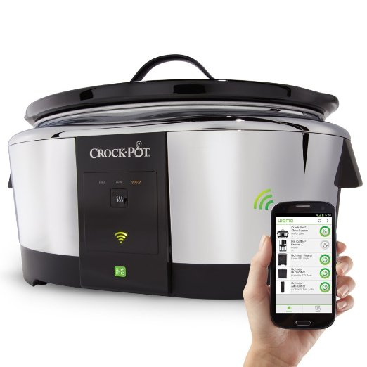 Crock-Pot 6-Quart We Smart Wi-Fi Enabled Slow Cooker