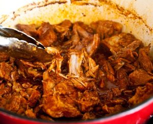 Reheat pulled pork in stove top