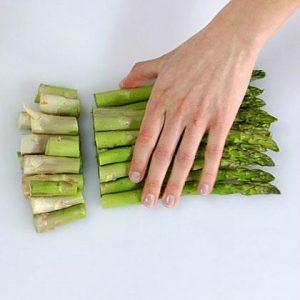 Trimming Fresh Asparagus