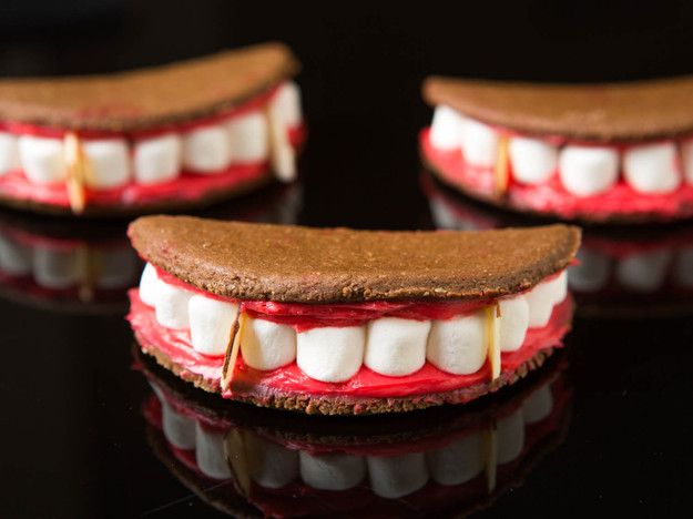 Vampire Mouth Marshmallow Sandwich Cookies